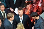 Sam Worthington on the red carpet for the London premier of Wrath of the Titans