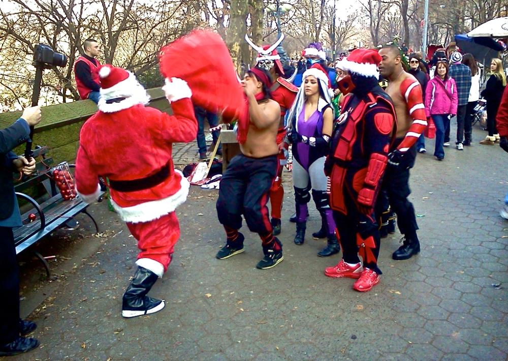 Santa vs Mortal Combat