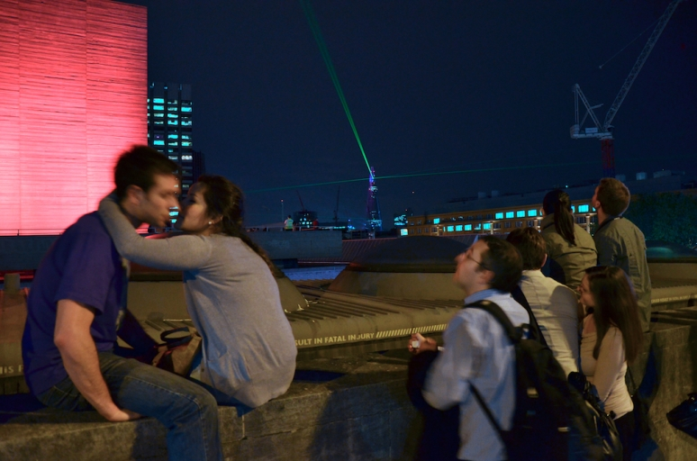 Kissing on Waterloo Bridge