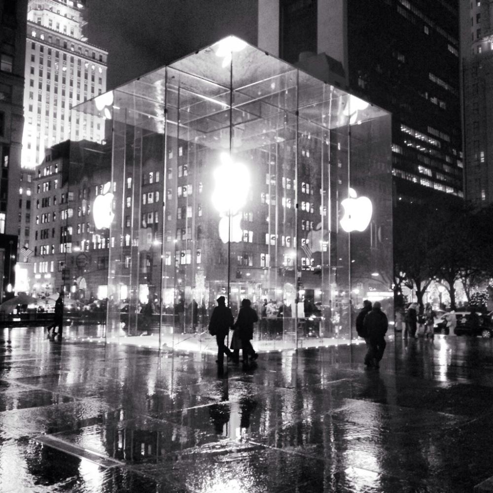 The Cube at night.  Photo by Arturo Fernandez