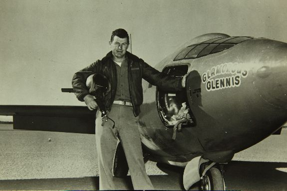 "Charles ""Chuck"" Yeager.  San Diego Air & Space Museum Archives"