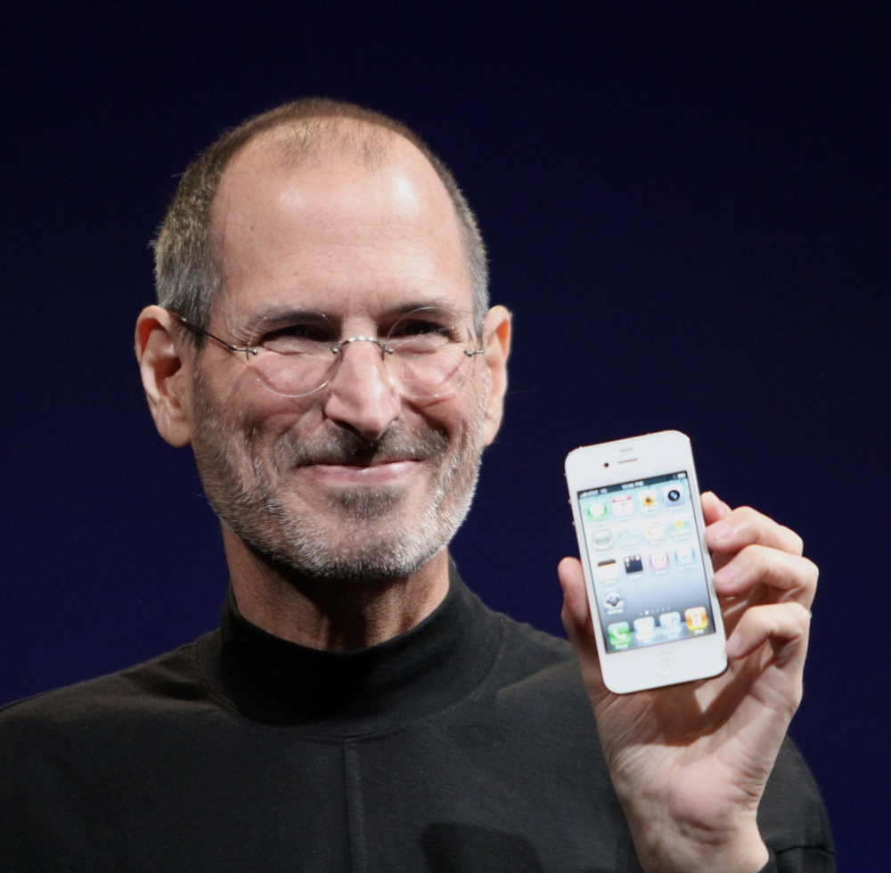 Steve Jobs shows off the iPhone 4 at the 2010 Worldwide Developers Conference by Matthew Yohe