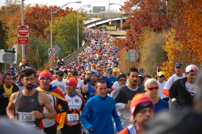A portion of the 47,000 runners.
